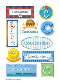 Constantino, nombre para stickers