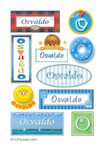 Osvaldo, nombre para stickers