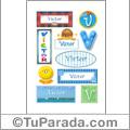 Victor, nombre para stickers