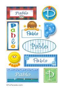 Pablo, nombre para stickers
