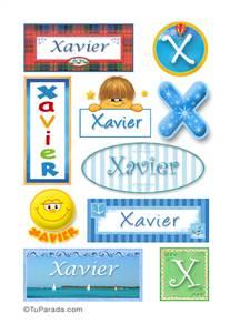 Xavier, nombre para stickers