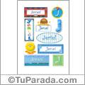 Jeriel, nombre para stickers