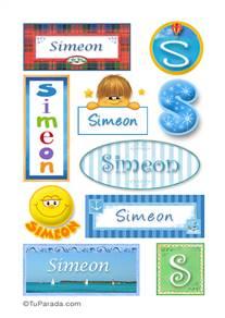 Simeon, nombre para stickers