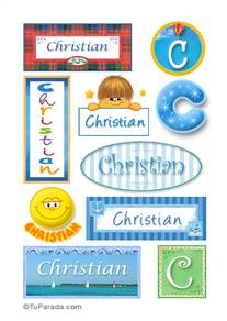 Christian, nombre para stickers