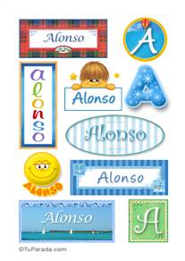 Alonso, nombre para stickers