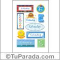 Echedey, nombre para stickers