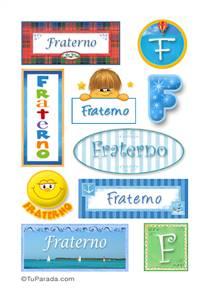Fraterno, nombre para stickers