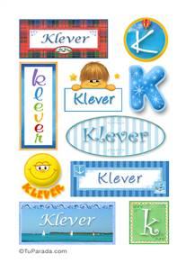 Klever, nombre para stickers