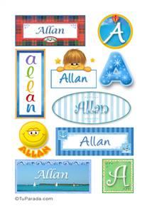 Allan, nombre para stickers