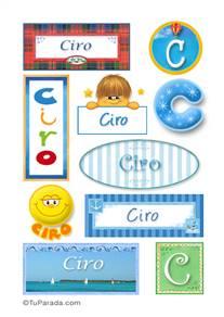 Ciro, nombre para stickers