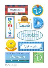 Damián, nombre para stickers