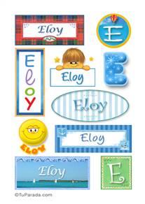 Eloy, nombre para stickers
