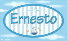 Ernesto, nombre de bebé, para imprimir