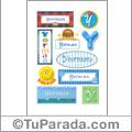 Yorman, nombre para stickers
