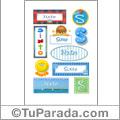 Sixto, nombre para stickers