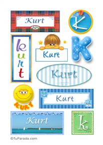 Kurt, nombre para stickers