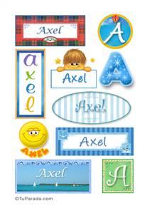 Axel, nombre para stickers