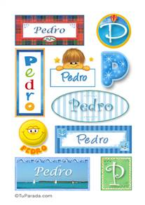 Pedro, nombre para stickers