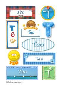Teo, nombre para stickers