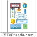 Isidro, nombre para stickers