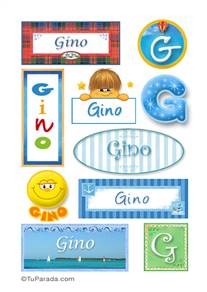 Gino, nombre para stickers