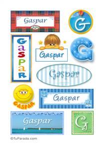 Gaspar, nombre para stickers