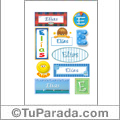 Elías, nombre para stickers
