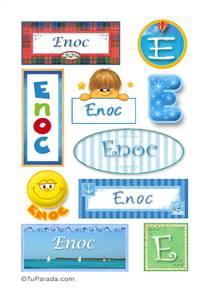 Enoc, nombre para stickers