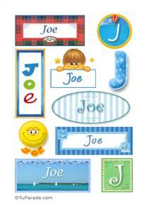 Joe, nombre para stickers
