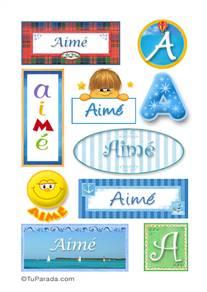Aimé, nombre para stickers