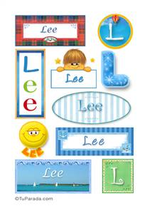 Lee, nombre para stickers