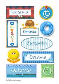 Octavio, nombre para stickers