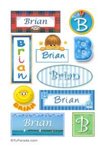 Brian, nombre para stickers