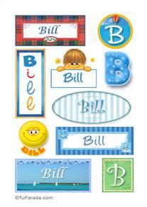 Bill, nombre para stickers