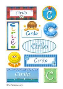 Cirilo, nombre para stickers