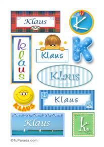 Klaus, nombre para stickers
