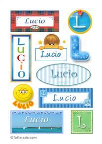 Lucio, nombre para stickers