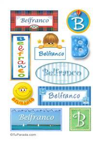 Belfranco, nombre para stickers