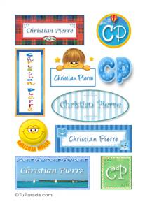 Christian Pierre, nombres para stickers