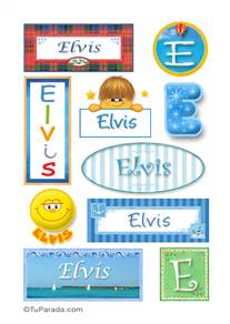 Elvis, nombre para stickers
