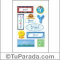 Yoel, nombre para stickers