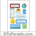 Eufracio, nombre para stickers