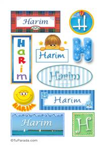 Harim, nombre para stickers