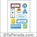 Abdias, nombre para stickers