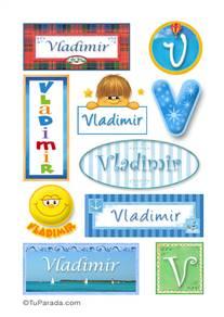 Vladimir, nombre para stickers