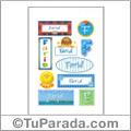 Farid, nombre para stickers