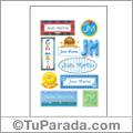 Juan Martin, nombres para stickers