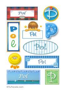 Pol, nombre para stickers