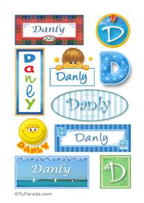 Danly, nombre para stickers