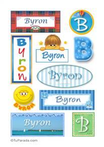 Byron, nombre para stickers